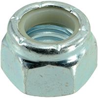 Midwest 03652 Hex Locknut, 7/16-14, Nylon Insert, Zinc Plated