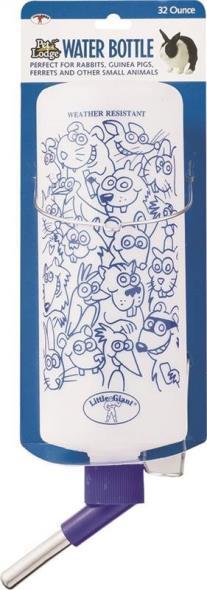 Pet Lodge OPB32 Pet Water Bottle, 32 oz Capacity, 3 in Dia, Plastic, Opaque