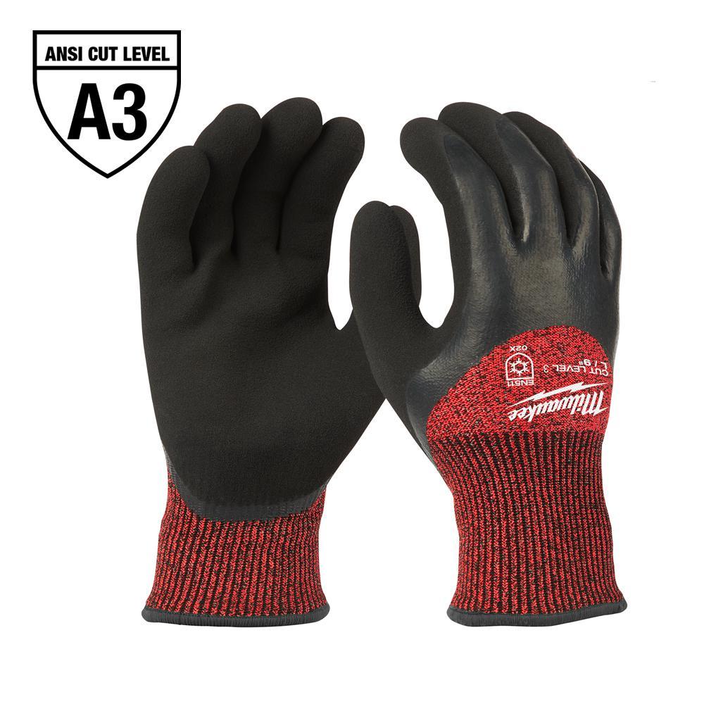 GLOVES WINTER A3 BLACK/RED XL
