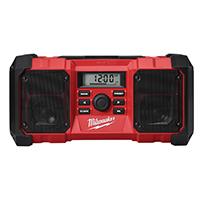 Milwaukee 2790-20 Jobsite Radio, 10 Channel, LCD Display