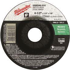 MILWAUKEE GRINDING WHEEL 4-1/2 IN. X 1/4 IN. X 7/8 IN. TYPE 27