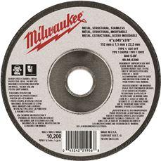 MILWAUKEE CUTTING WHL 6 IN. X .045 IN. X 7/8 IN. TYPE 1