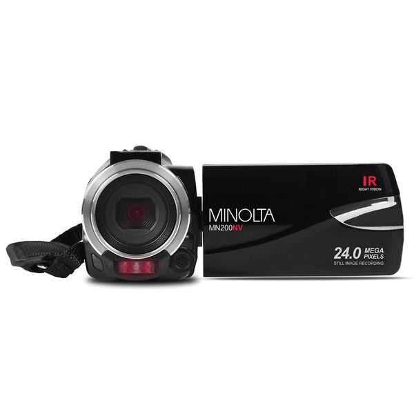Minolta MN200NV-BK MN200NV 1080p Full HD IR Night Vision Wi-Fi Camcorder (Black)