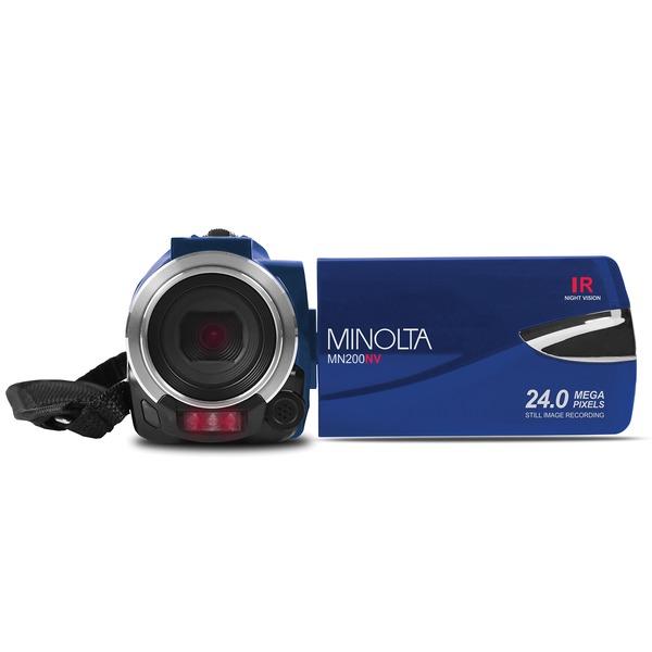 Minolta MN200NV-BL MN200NV 1080p Full HD IR Night Vision Wi-Fi Camcorder (Blue)