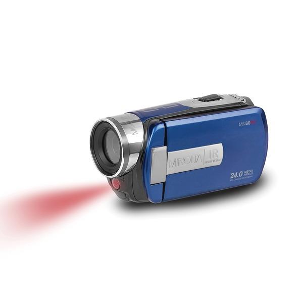 Minolta MN80NV-BL MN80NV Full HD 1080p IR Night Vision Camcorder (Blue)