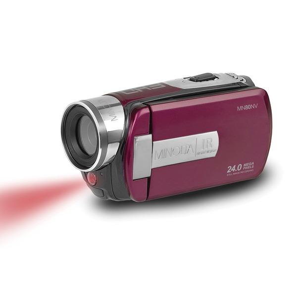Minolta MN80NV-M MN80NV Full HD 1080p IR Night Vision Camcorder (Maroon)