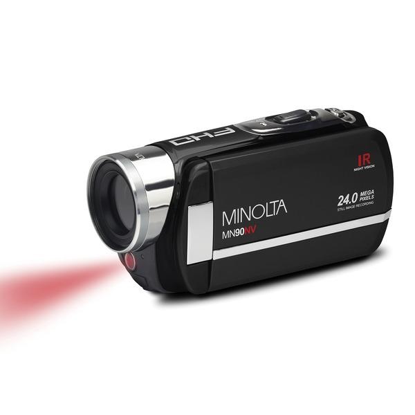 Minolta MN90NV-BK MN90NV Full HD 1080p IR Night Vision Camcorder (Black)