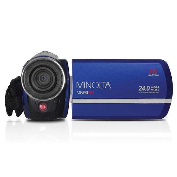 Minolta MN90NV-BL MN90NV Full HD 1080p IR Night Vision Camcorder (Blue)