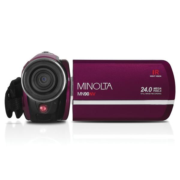 Minolta MN90NV-M MN90NV Full HD 1080p IR Night Vision Camcorder (Maroon)