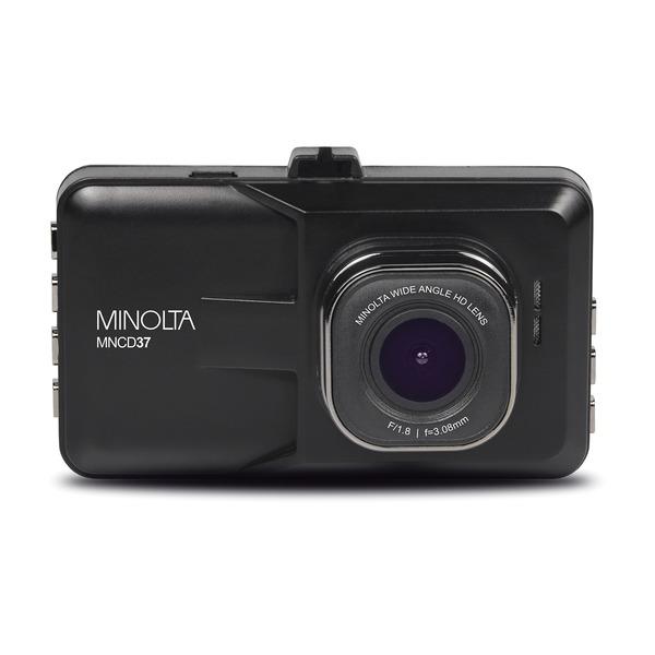 Minolta MNCD37-BK MNCD37 1080p Full HD Dash Camera with 3-Inch QVGA LCD Screen (Black)