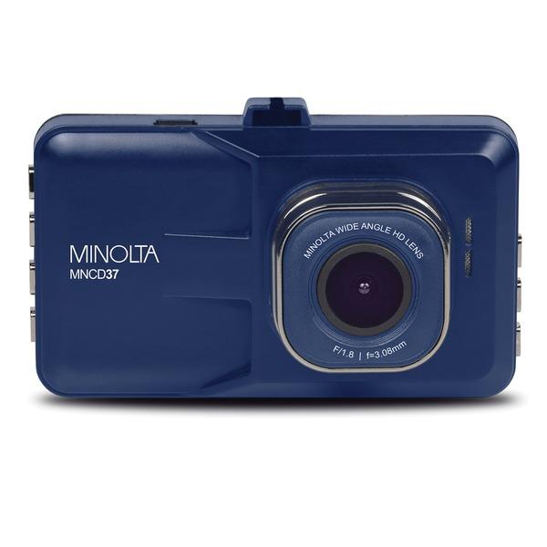 Minolta MNCD37-BL MNCD37 1080p Full HD Dash Camera with 3-Inch QVGA LCD Screen (Blue)
