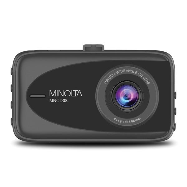 Minolta MNCD38-BK MNCD38 1080p Full HD Dash Camera with 3.2-Inch LCD Screen (Black)