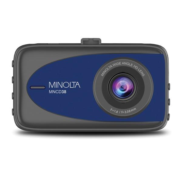Minolta MNCD38-BL MNCD38 1080p Full HD Dash Camera with 3.2-Inch LCD Screen (Blue)