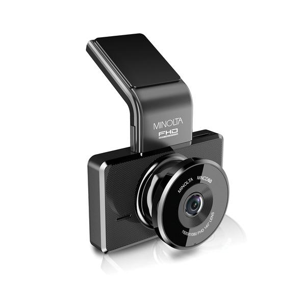 Minolta MNCD60-BK MNCD60 1080p Full HD ADAS Dash Camera with 3-Inch LCD Screen (Black)