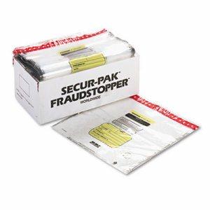 8 Bundle Capacity Tamper-Evident Cash Bags, 20 x 20, Clear, 250 Bags/Box