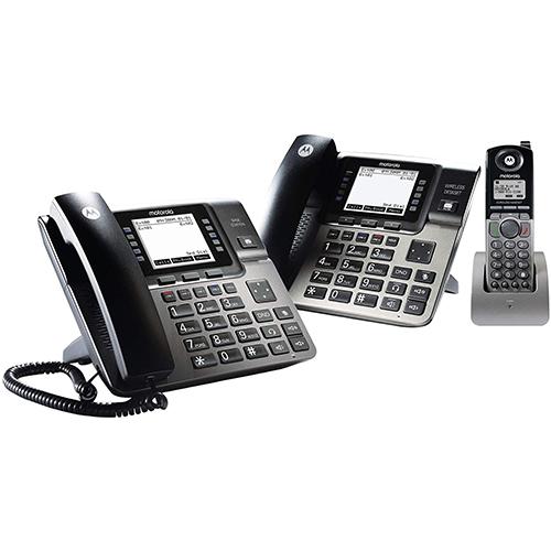 Unison 1-4 Line Wireless Phone System Bundle, with 1 Deskphone, 1 Cordless Handset