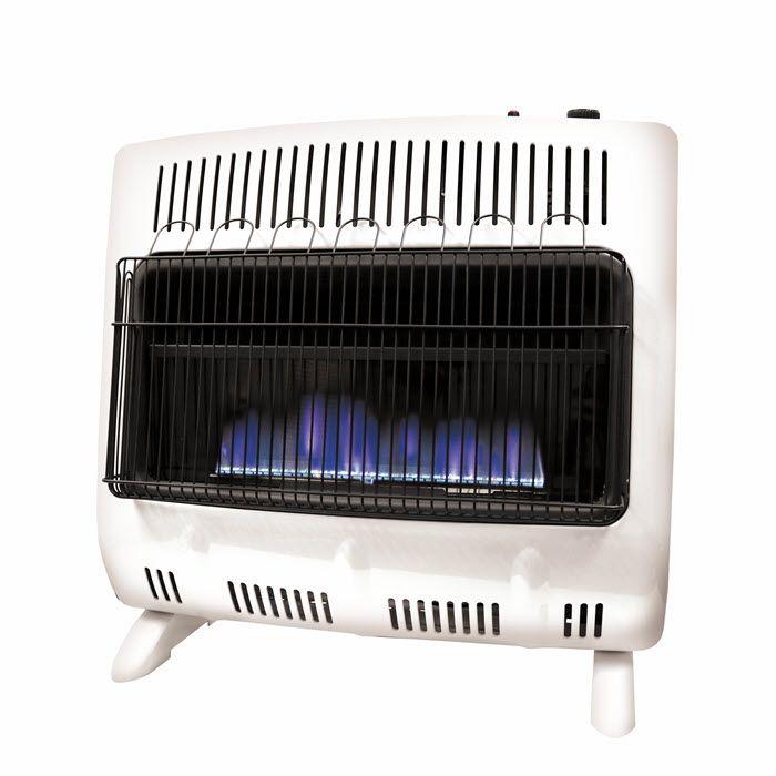 Mr. Heater Blue Wall Heater Vent-Free White 30000 BTU