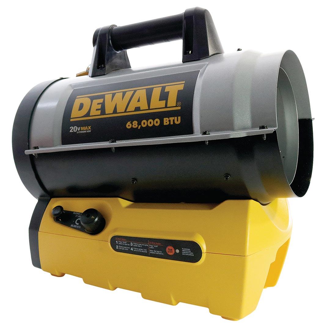 Mr. Heater DeWALT (DXH70CFAV) 68000 BTU Cordless Forced Air Propane Heater (Bare Tool)