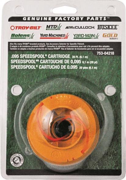Speedspool 49U4218P953 Replacement Spool Cartridge, 0.095 in Diameter X 20 ft Length, Copolymer