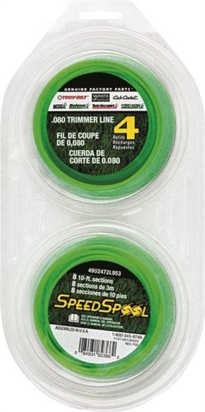 Speedspool 49U2472L953 Replacement Spool Precut Line, 0.095 in Diameter X 20 ft Length