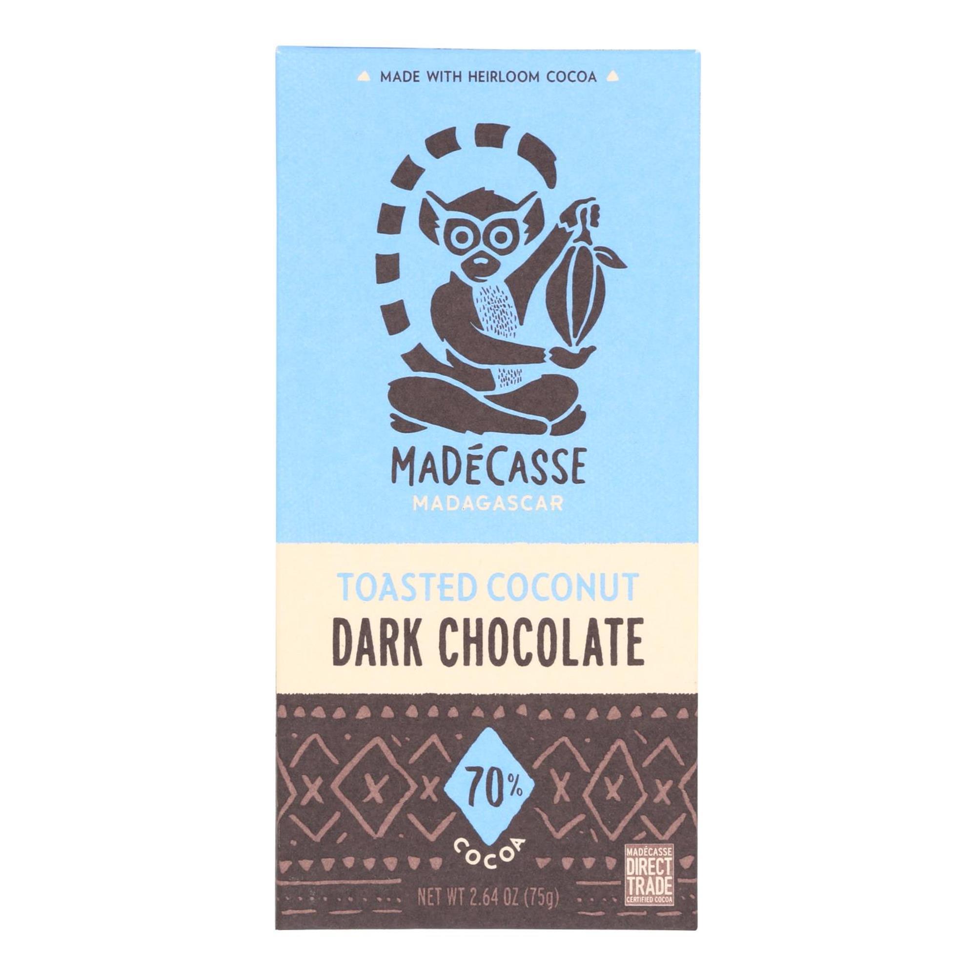 Madecasse Tst Coconut 63% DkChocolate (10x2.64OZ )
