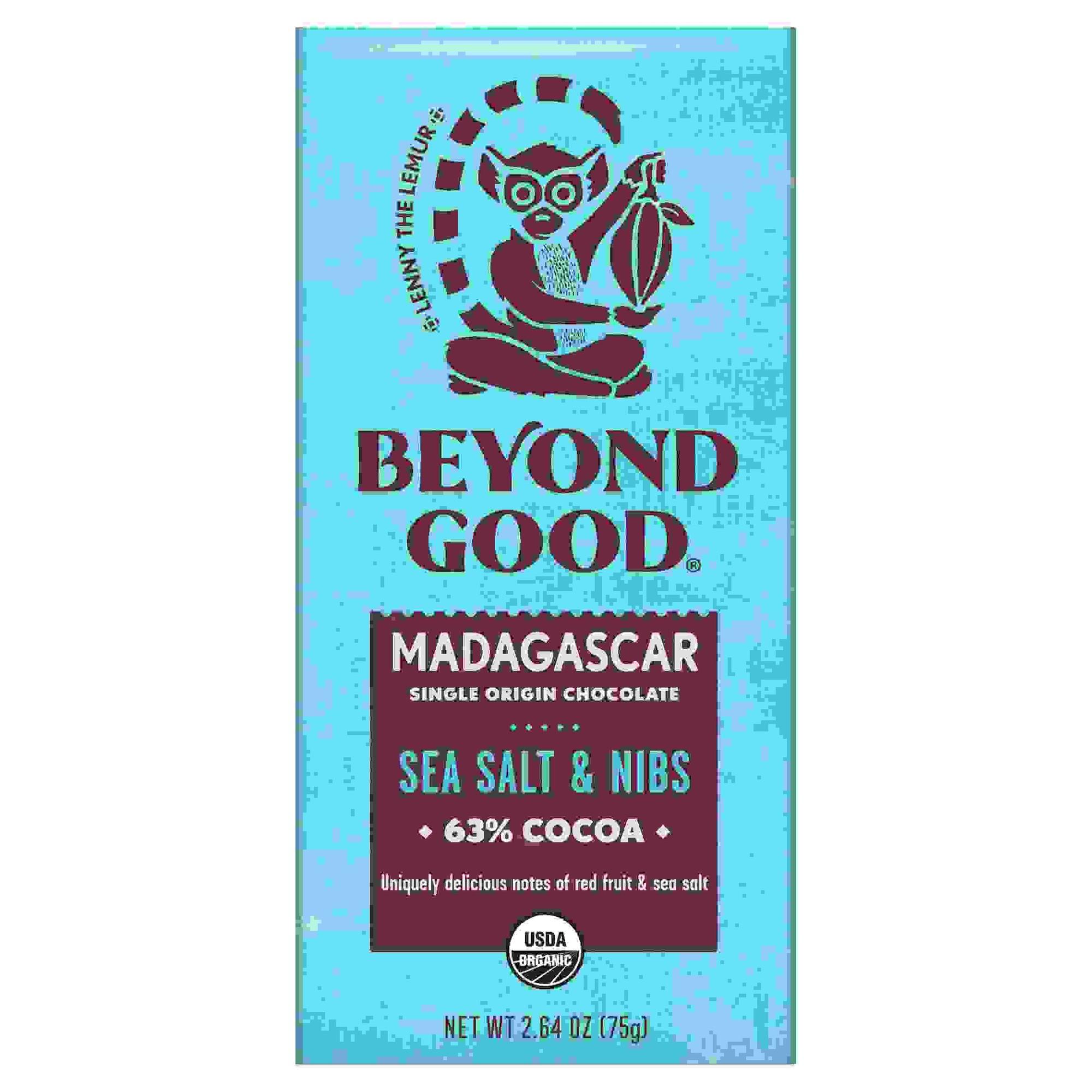 Madecasse 63% Cocoa SeaSalt Nibs (10x2.64OZ )