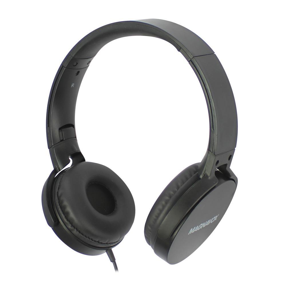 MAGNAVOX FOLDABLE HEADPHONE W/MIC, BLACK