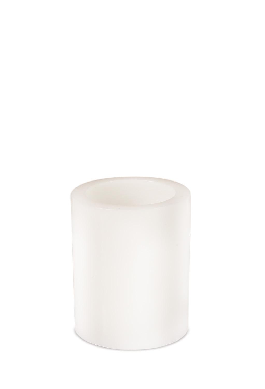 "LED Wax Pillar Candle (Set of 4) 4""Dx5""H Wax/Plastic - 2 D Batteries Not Incld."