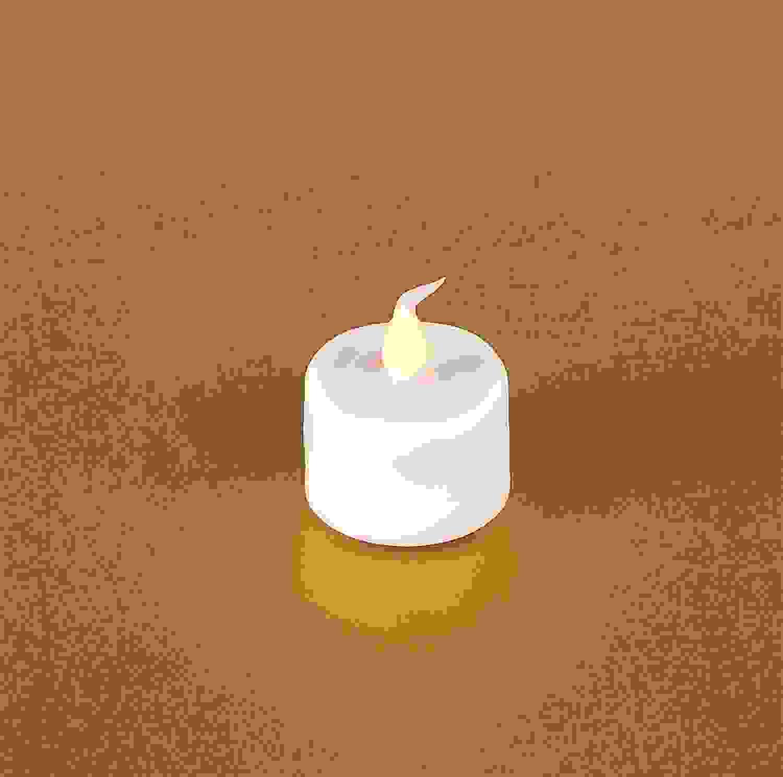 "LED Flickering Tea Light w/6 Hr Timer (Set of 12) 1""H Plastic (2 CR2450 Lithium Batt Incld.)"
