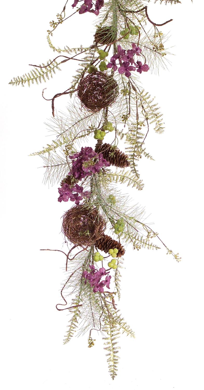 Hydrangea Nest Garland (Set of 2) 4'L Plastic
