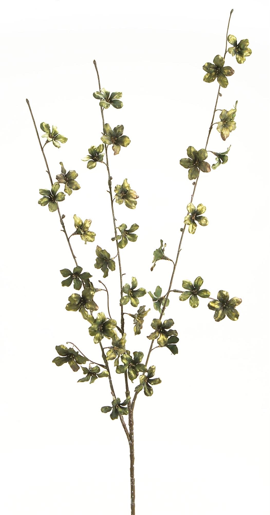 "Metallic Cherry Blossom Spray (Set of 12)  40""H Polyester"