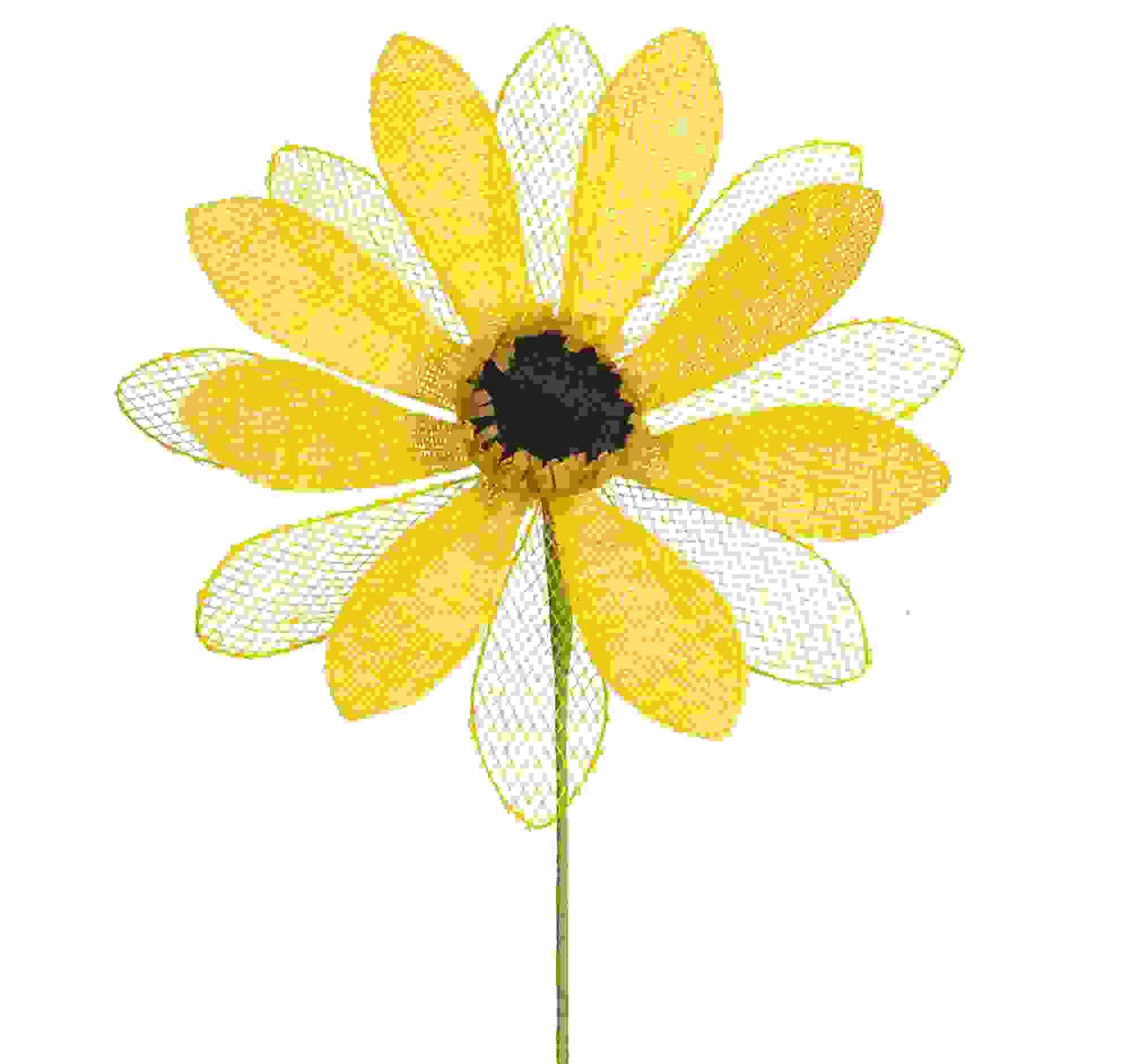 """Mesh Sunflower Stem (Set of 6) 23""""H Nylon"""