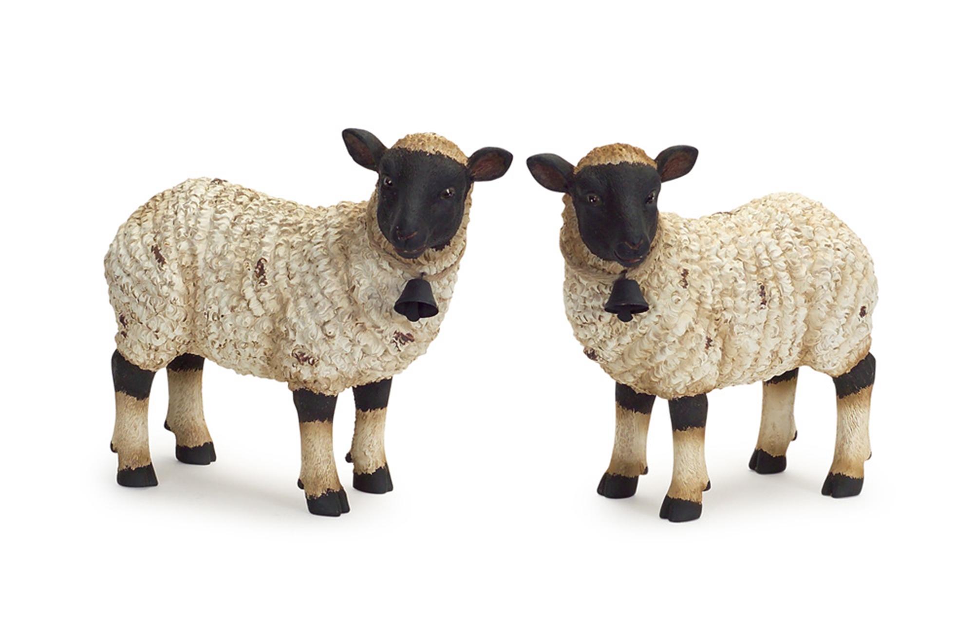 """Sheep (Set of 2) 9.25""""H Polyresin"""