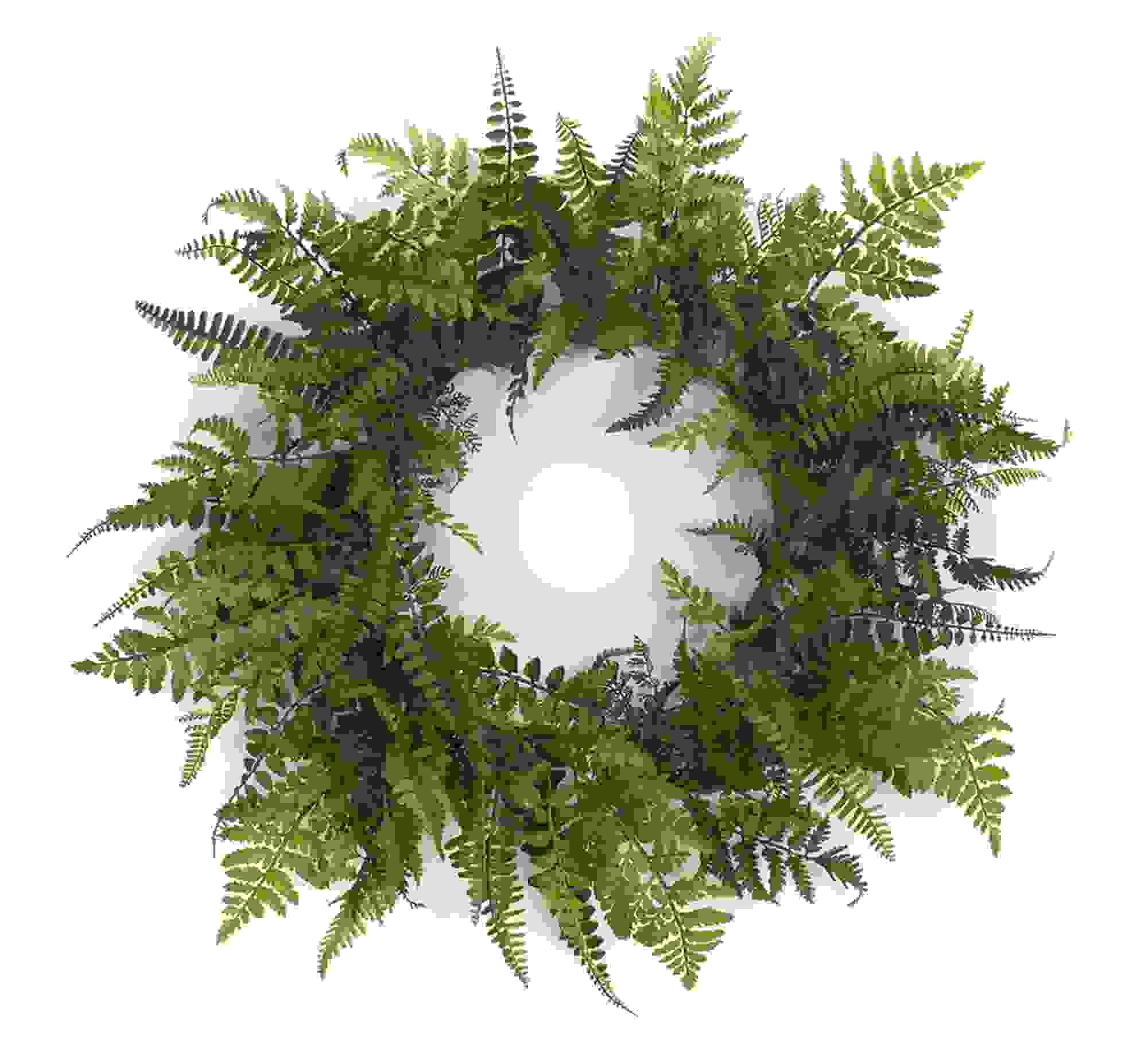"Fern Wreath 24""D Plastic"