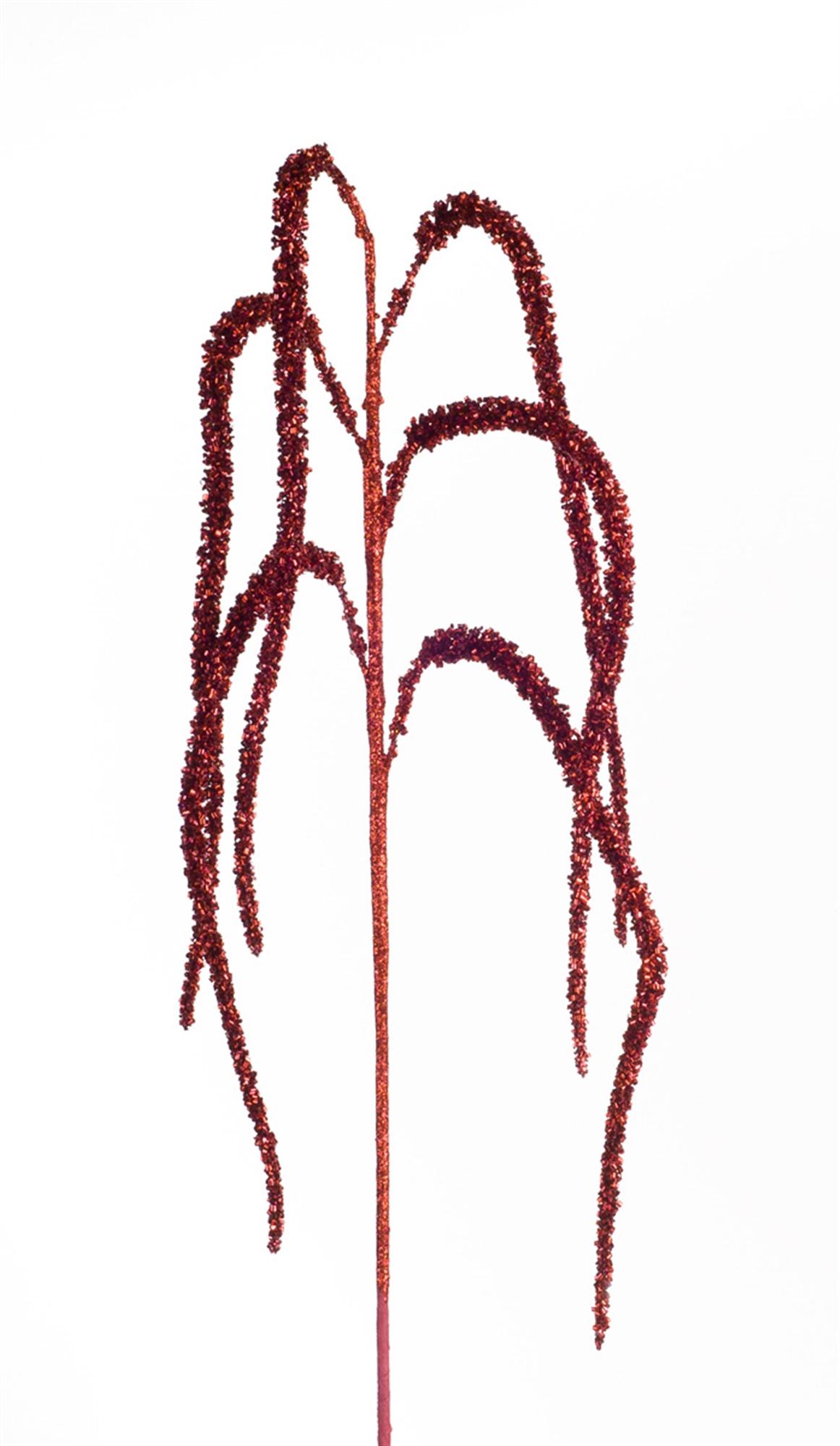 "Amaranthus Spray (Set of 12) 44""H Plastic/Glitter"