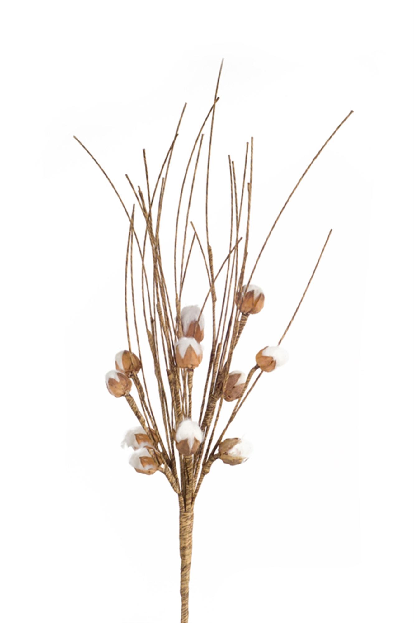 """Cotton Pod Bush (Set of 24) 18""""H Cotton/Plastic"""