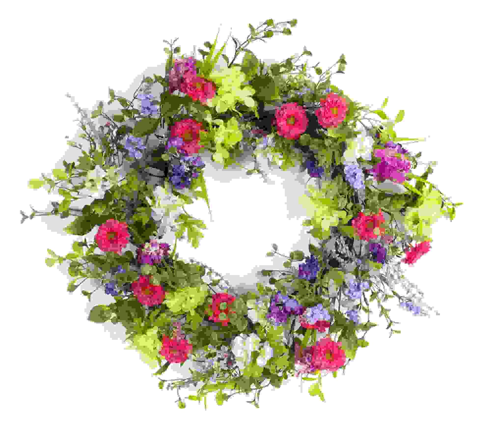 "Mixed Floral Wreath 24""D"