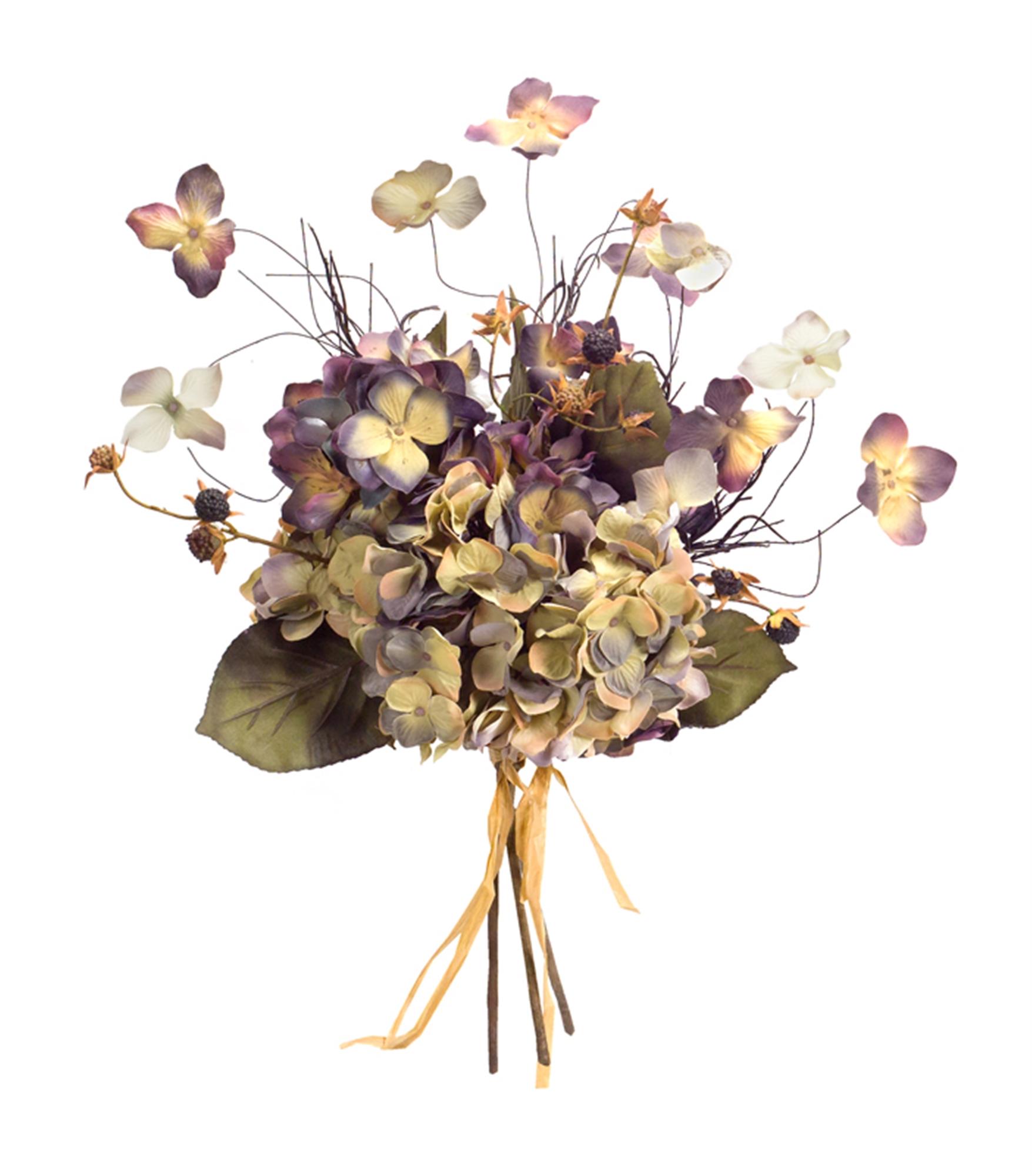 "Hydrangea Bouquet (Set of 6) 20""H Polyester/Plastic"