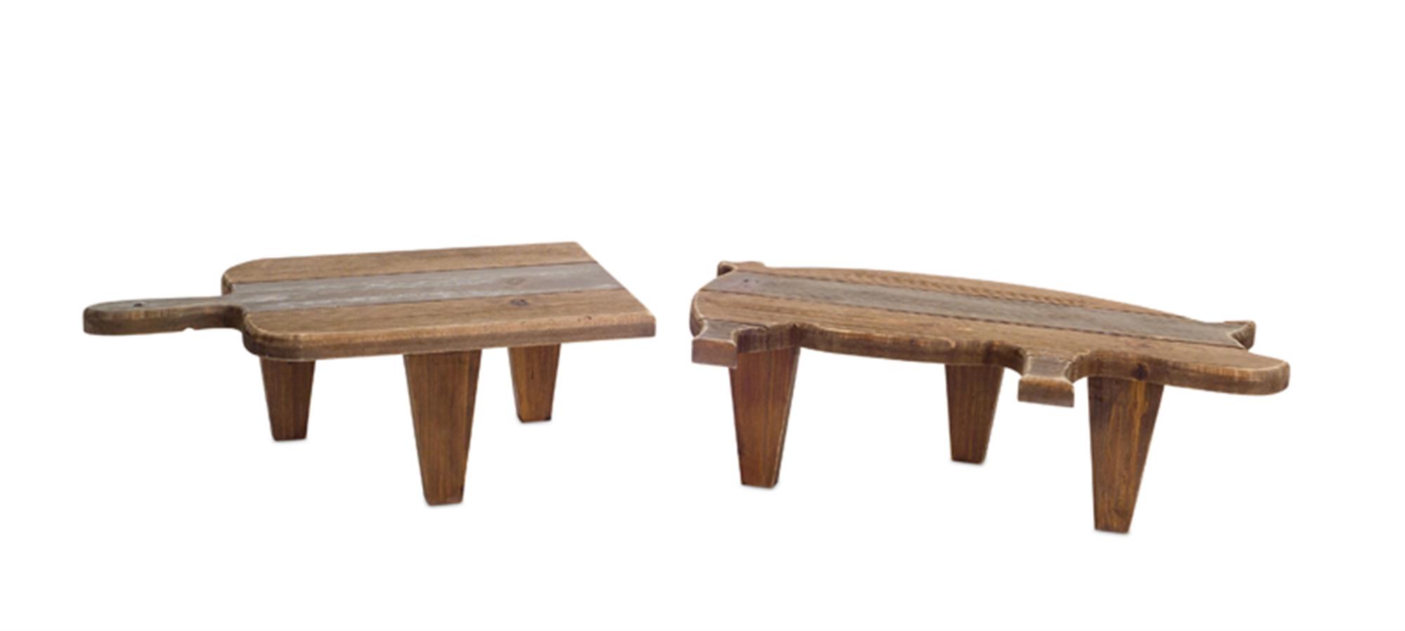 "Pig/Cutting Board Stool (Set of 4) 5""H, 8""H Wood"
