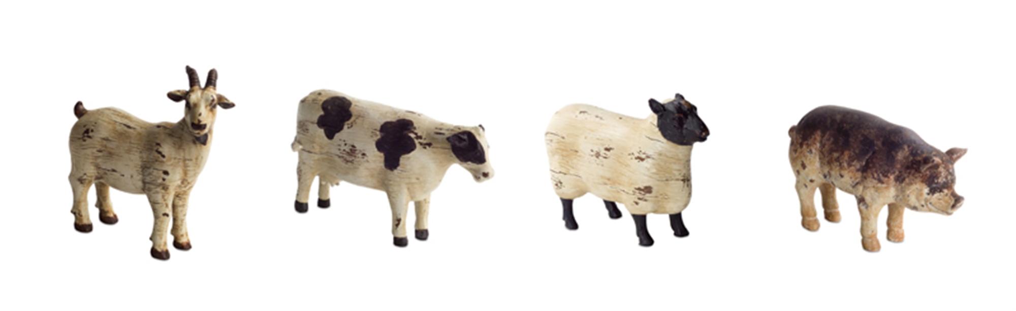 Sheep/Pig/Cow/Goat (Set of 8)