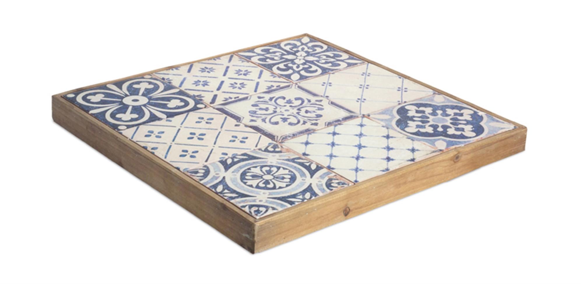 """Tray 18.5""""D Wood"""