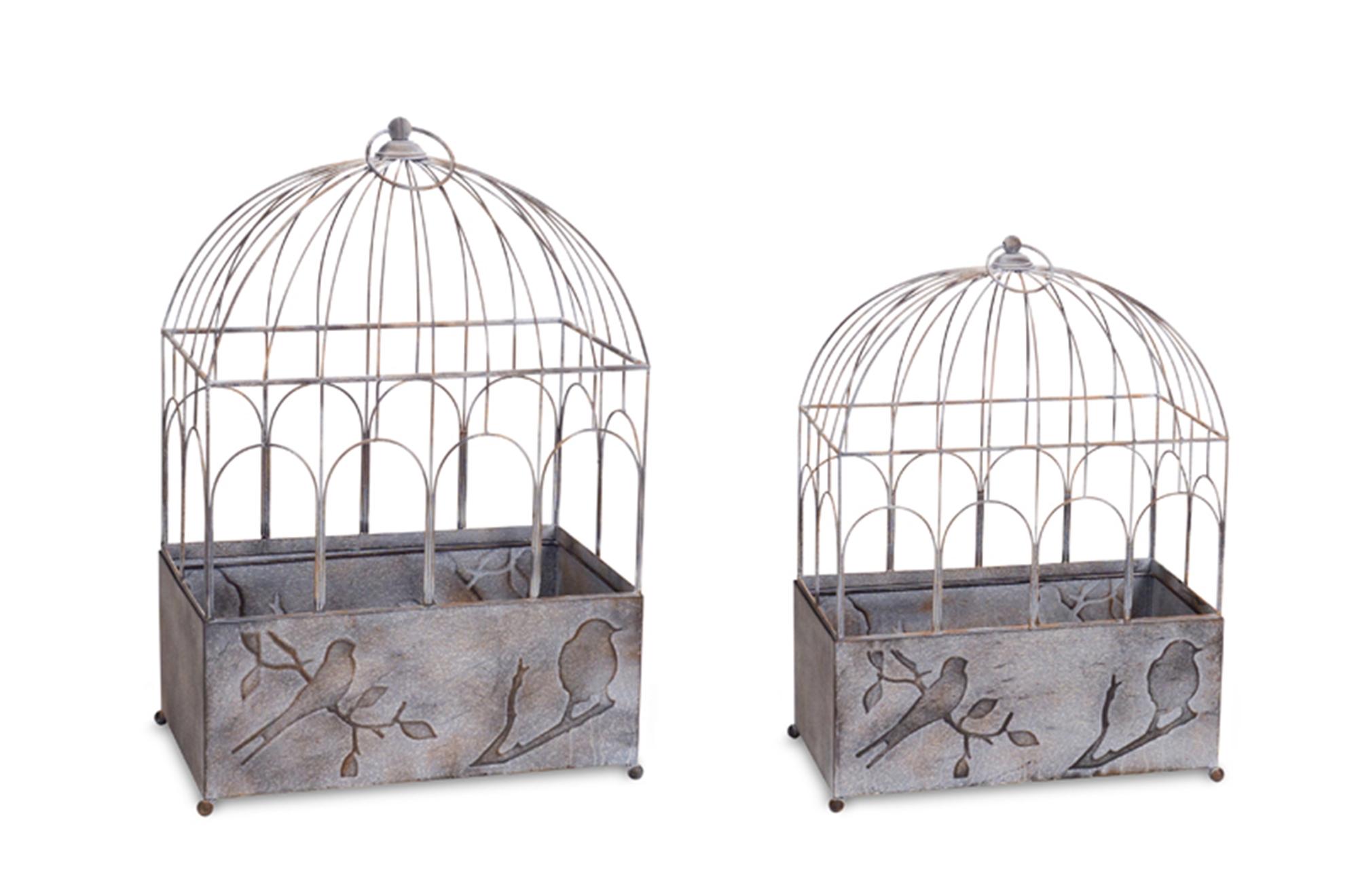 """Bird Cage (Set of 2) 22.5""""H, 27""""H Metal"""