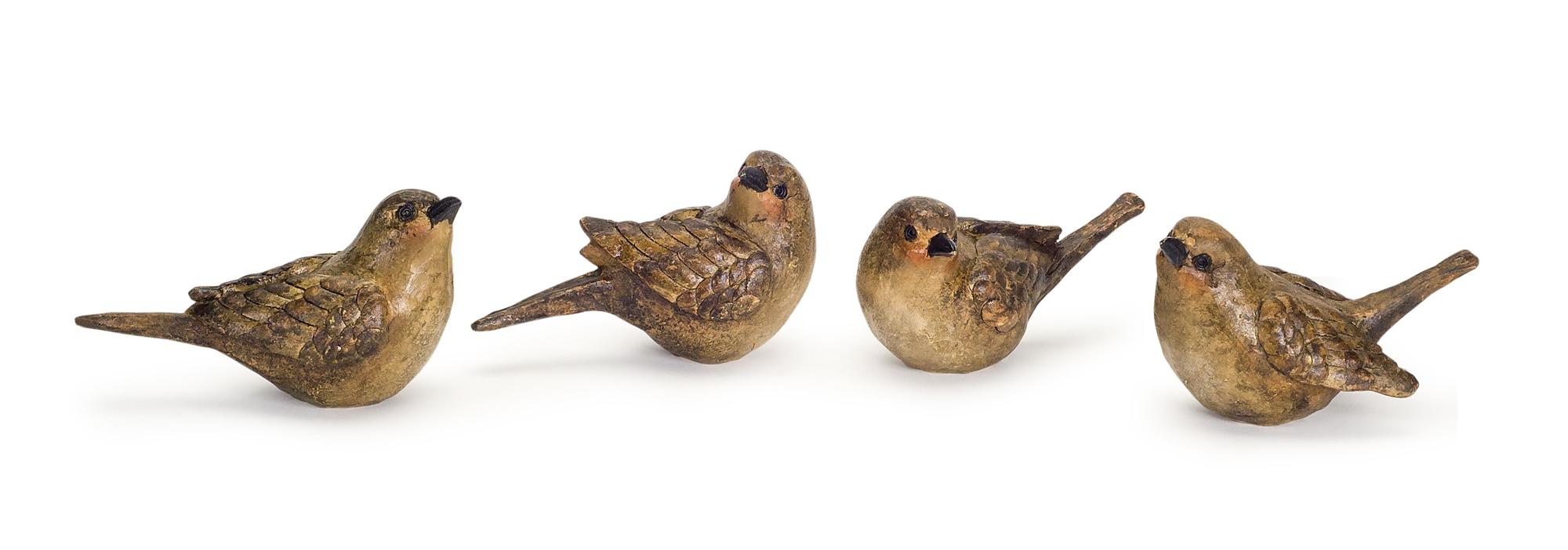 "Birds (Set of 8) 3.5"" x 3"" Resin"