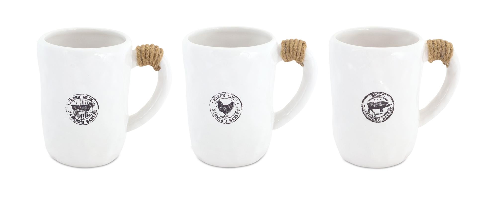 """Mugs (Set of 6) 4.75""""H Ceramic"""