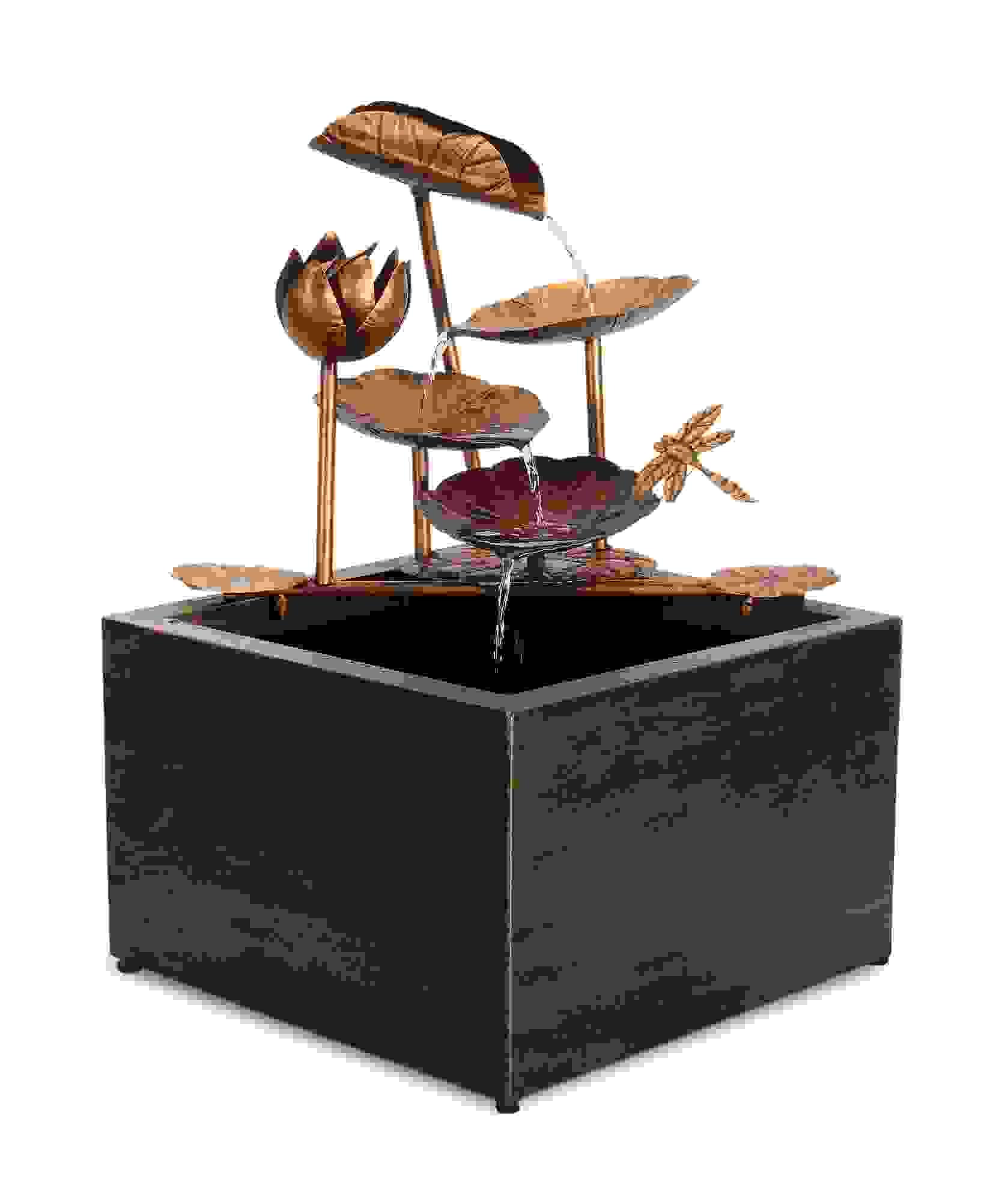 "Leaf Fountain 24""H Resin/Iron"