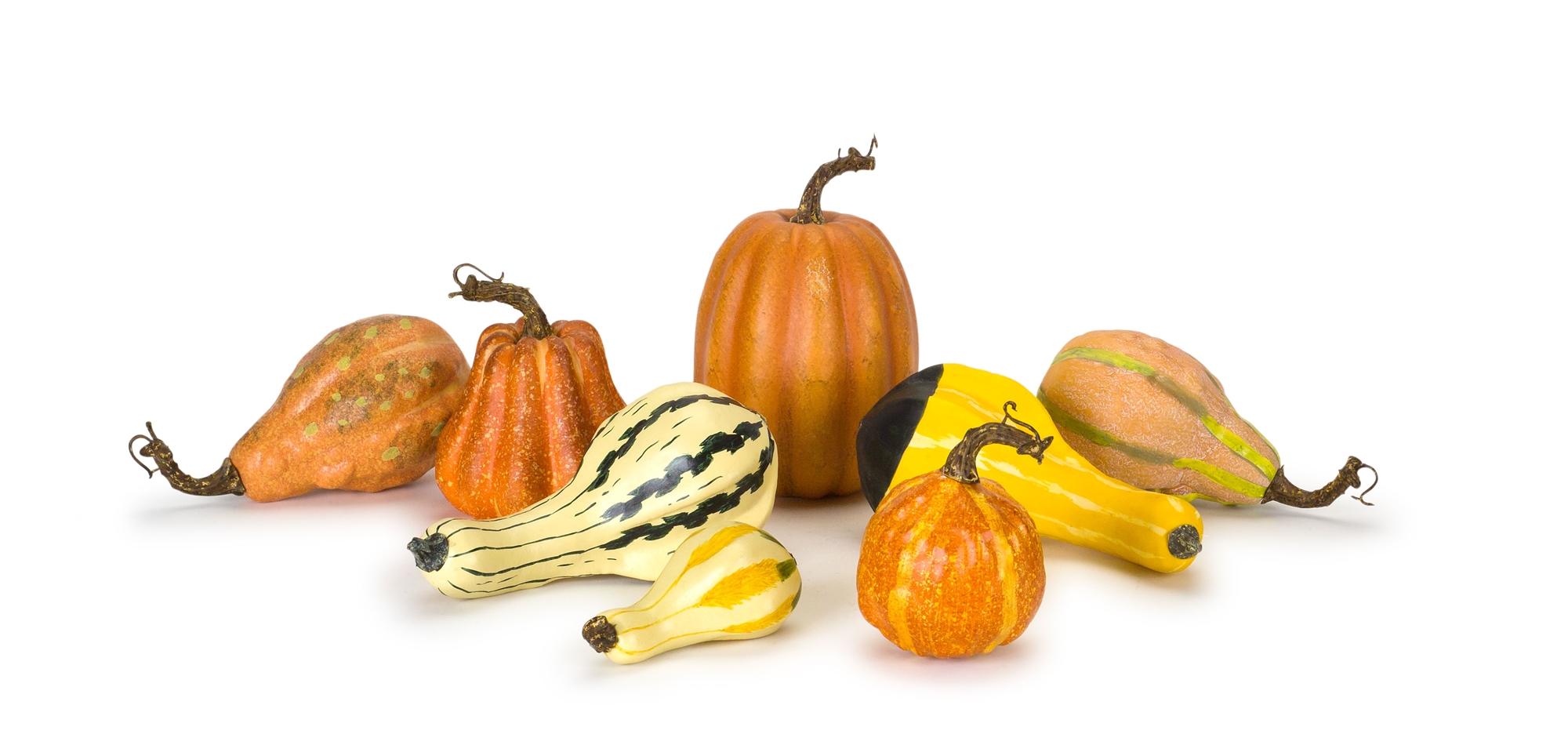 """Pumpkin/Gourd (Set of 8) 4.75""""H - 7""""H Foam"""
