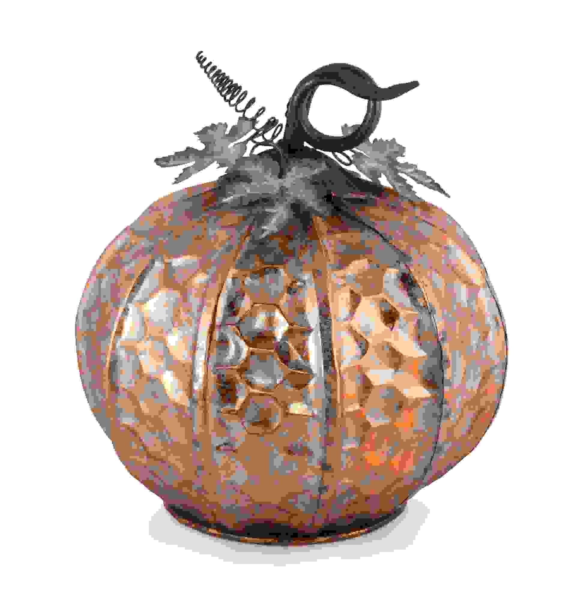 """Pumpkin 14""""D x 14.5""""H Iron"""