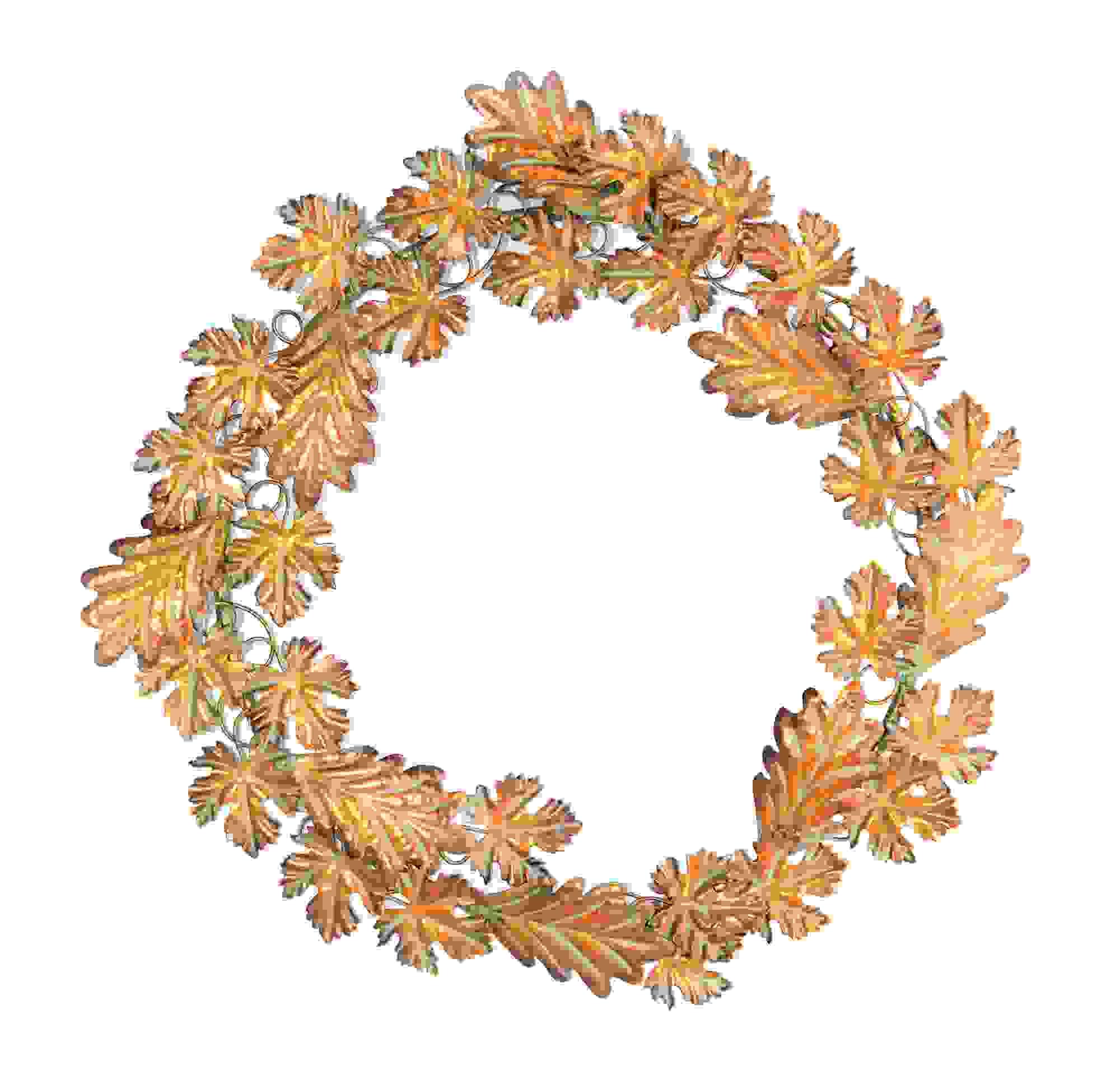 "Fall Leaf Wreath 19""D Iron"