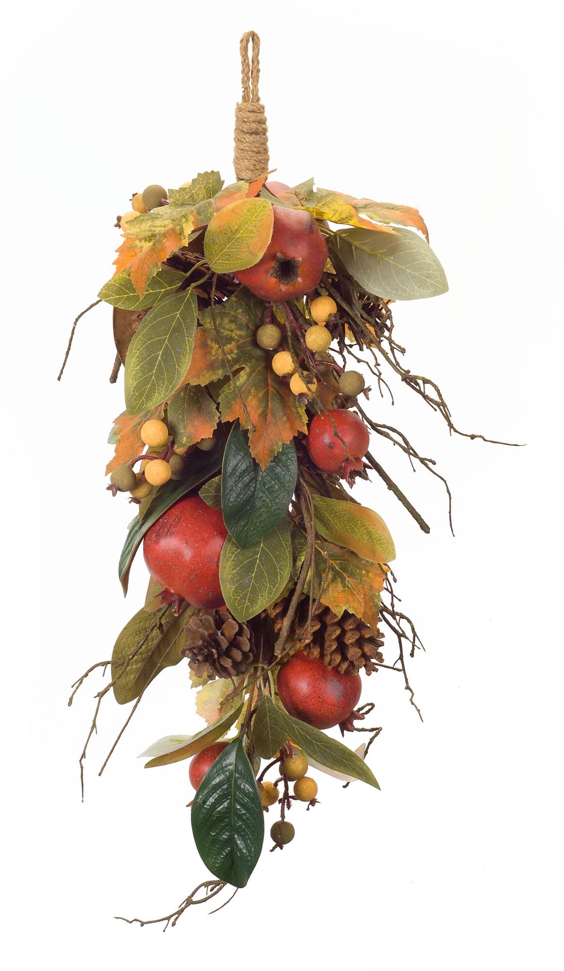 "Pomegranate/Fall Leaf Swag (Set of 2) 28.25""L Foam"