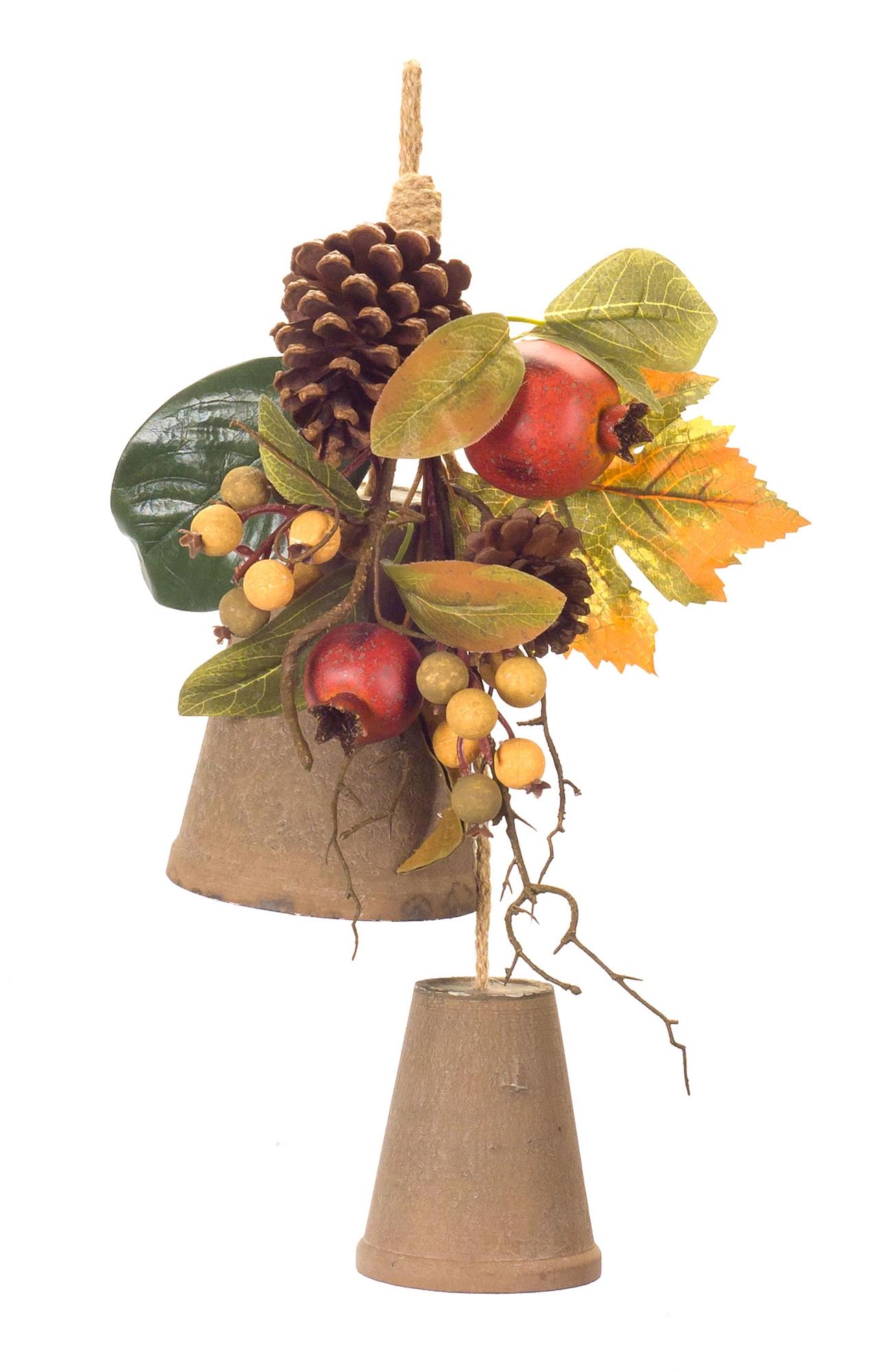 """Pomegranate/Fall Leaf Drop (Set of 4) 18.5""""L Foam"""